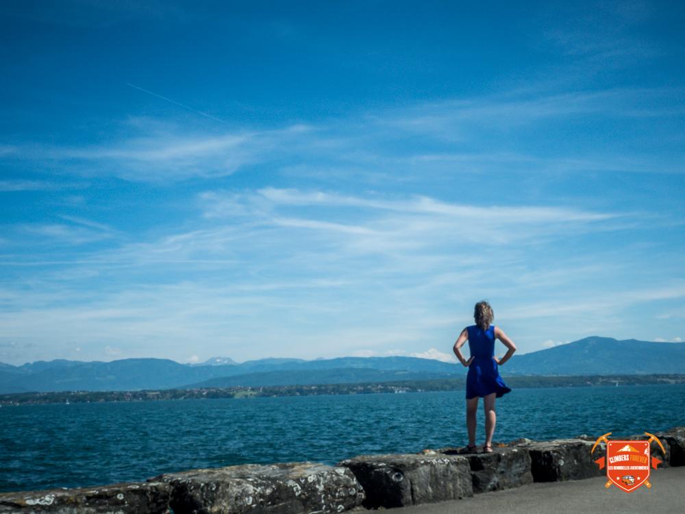 Betsy au bord du Lac Léman