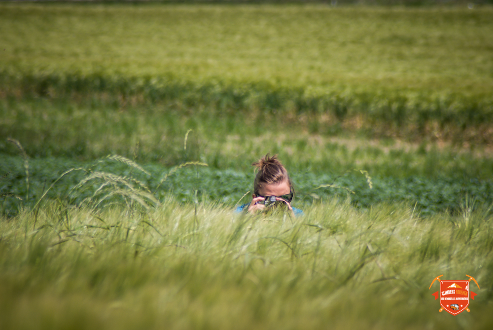 Amélie au milieu des champs de blé Suisse