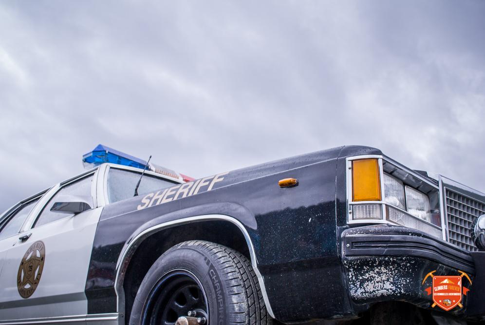 La voiture du shérif tout droit sortie des film Américain les Demoiselles sont sur la route 66 c'est sur!!